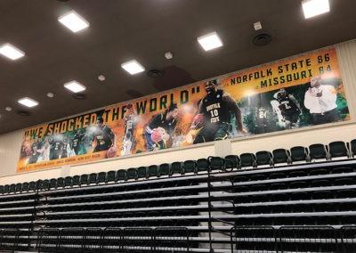 NSU Basketball Wall