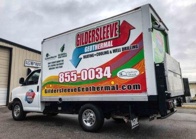 Gildersleeve Geothermal Box Truck Partial Wrap